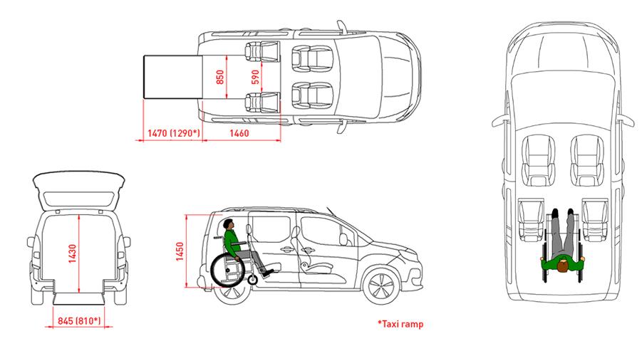 planimetria auto trasporto disabili runner 4+1